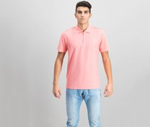 Ryan Seacrest Distinction Men's Slim Fit Zip-Up Polo, Pink
