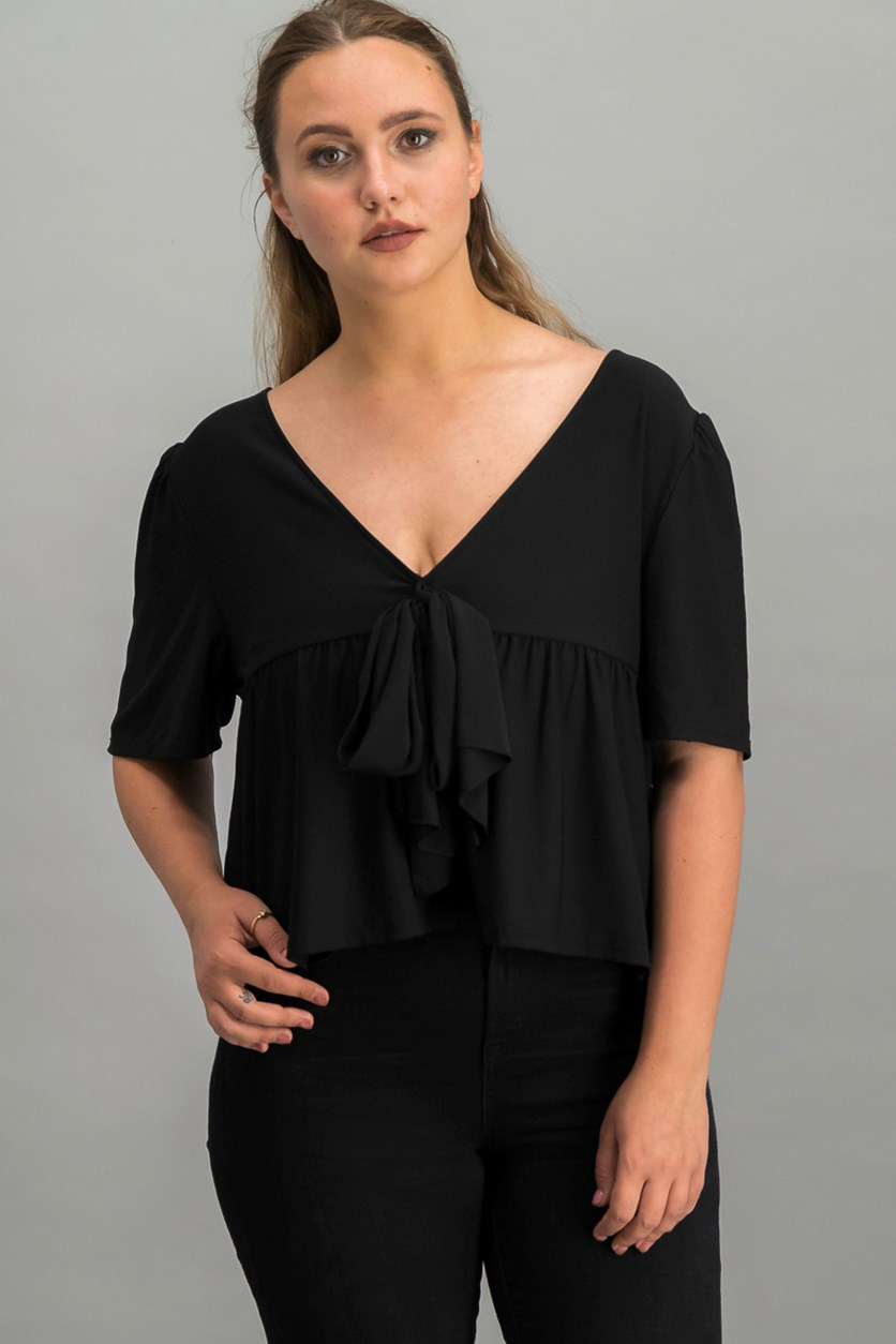 Tie-Back Top, Black