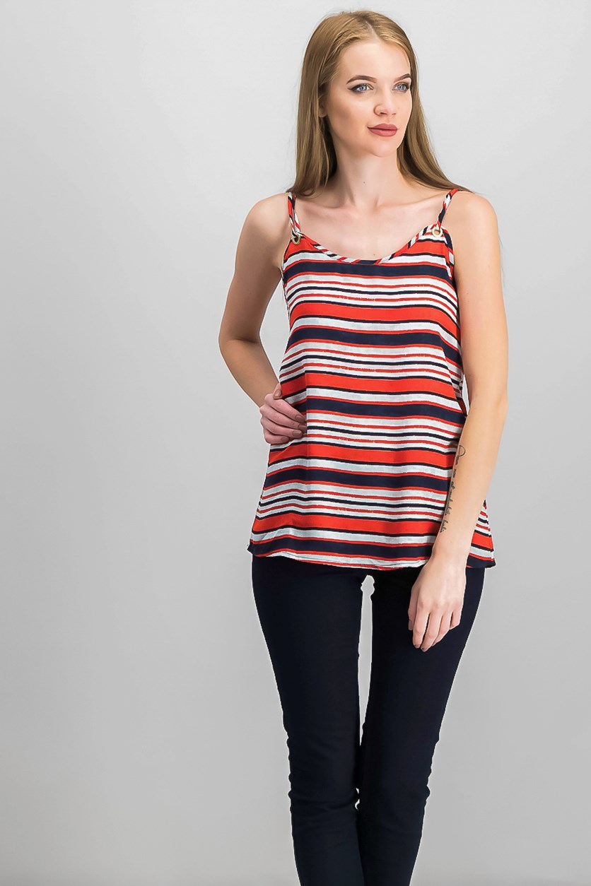 Sandbox Striped Top, Hot Lava Combo