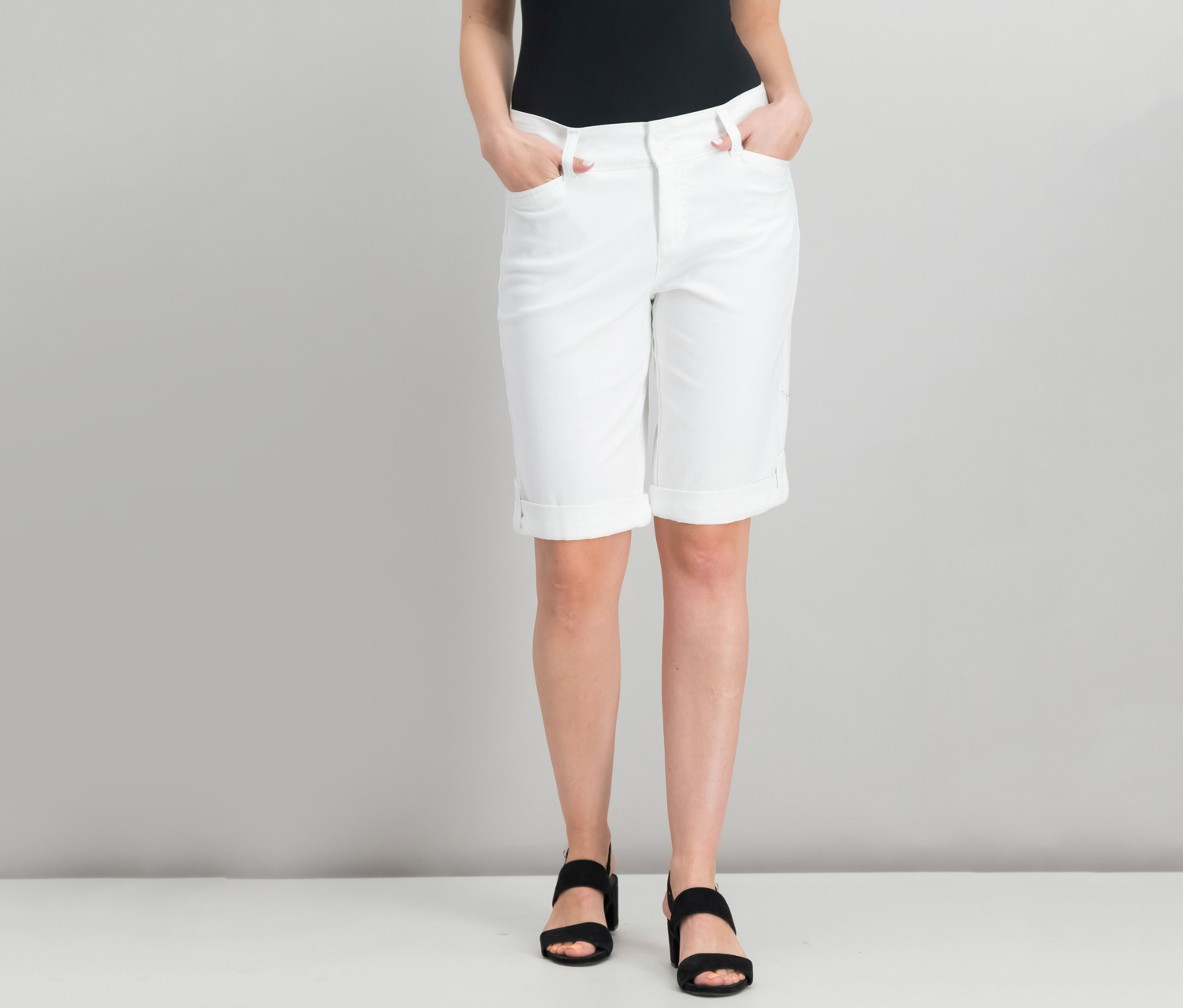 Charter Club Cuffed Bermuda Shorts, Bright White