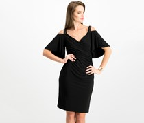 Lauren Ralph Lauren Cutout-Shoulder Jersey Dress, Black