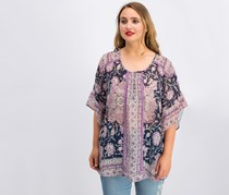 Style Co Floral-Print Bell-Sleeve Top, Lotus Daydream