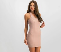 Trixxi Juniors' Ribbed Strappy-Back Bodycon Dress, Dusty Pink