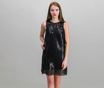 Michael Kors Womens Sequins Dress, Black