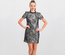 Women  Sequined Lace Shift Dress, Silver