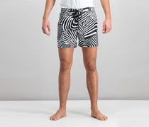 International Concepts Mens Zebra  Swim Trunks, Deep Black