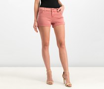 Celebrity Pink Women's Cuffed Denim Shorts, Faded Rose