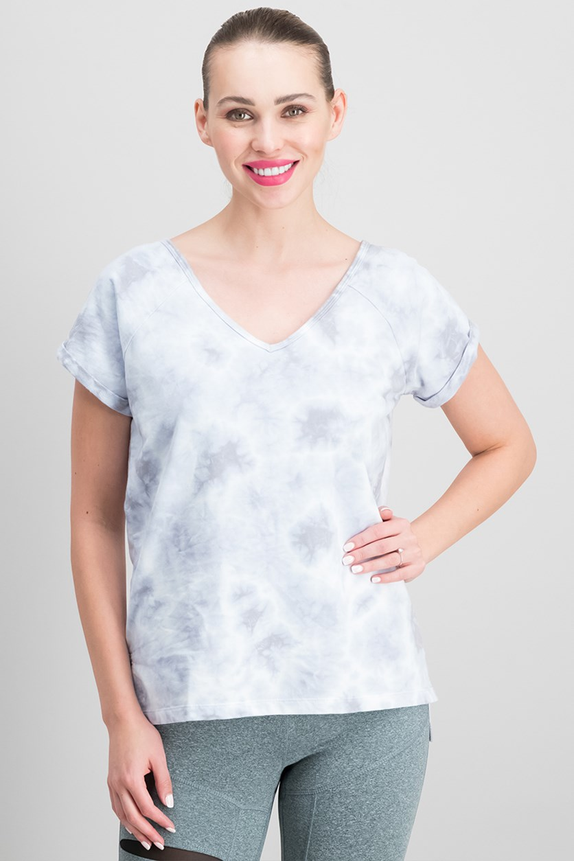 Tie-Dyed Strappy Back T-Shirt, Grey Wash