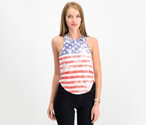 Rebellious One Juniors Printed Americana Tank, American Flag