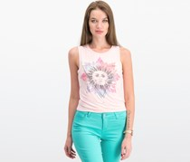 Rebellious One Juniors Graphic Tank Top, Blush