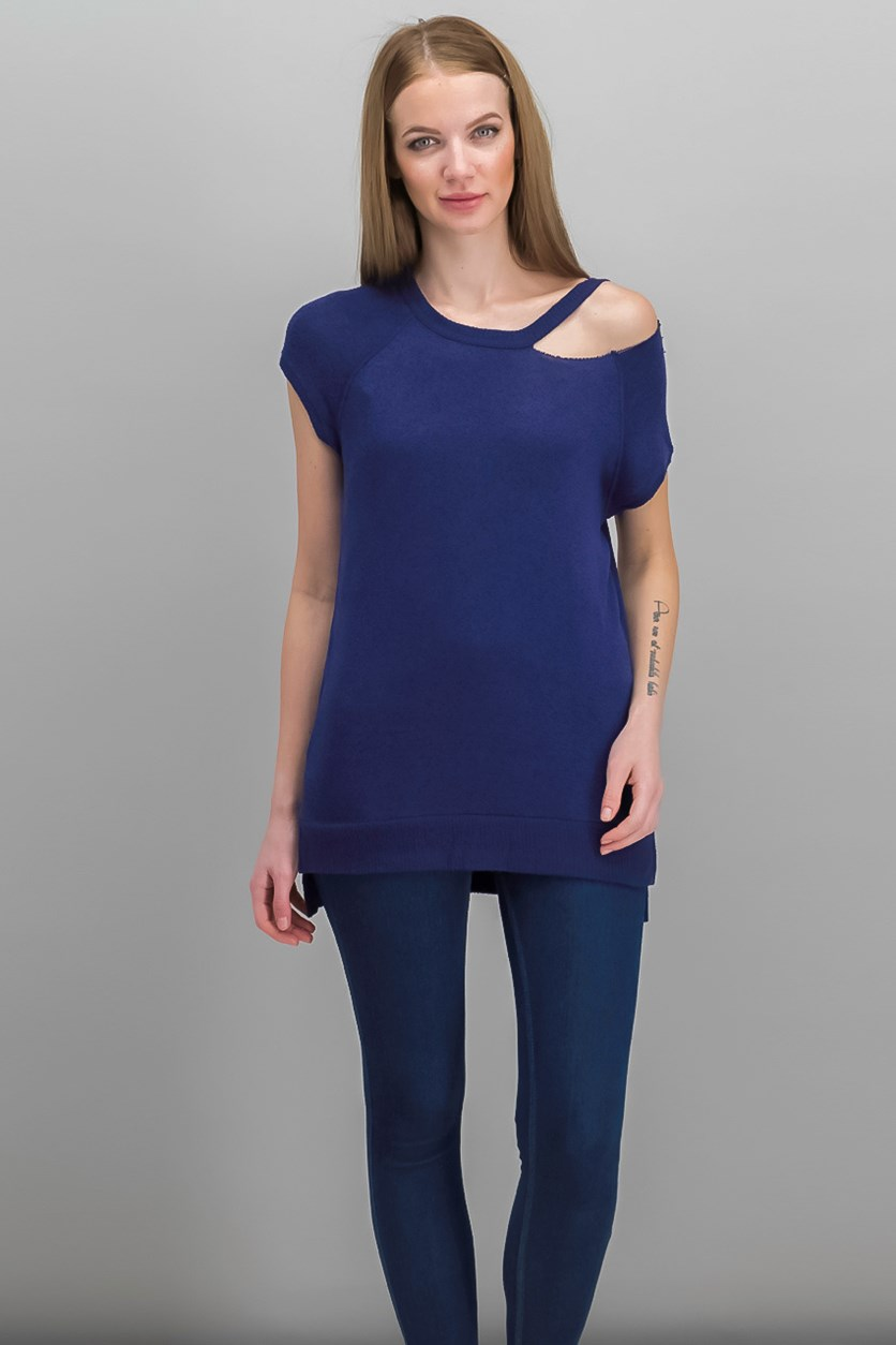 Women's Riley Cutout Top, Indigo