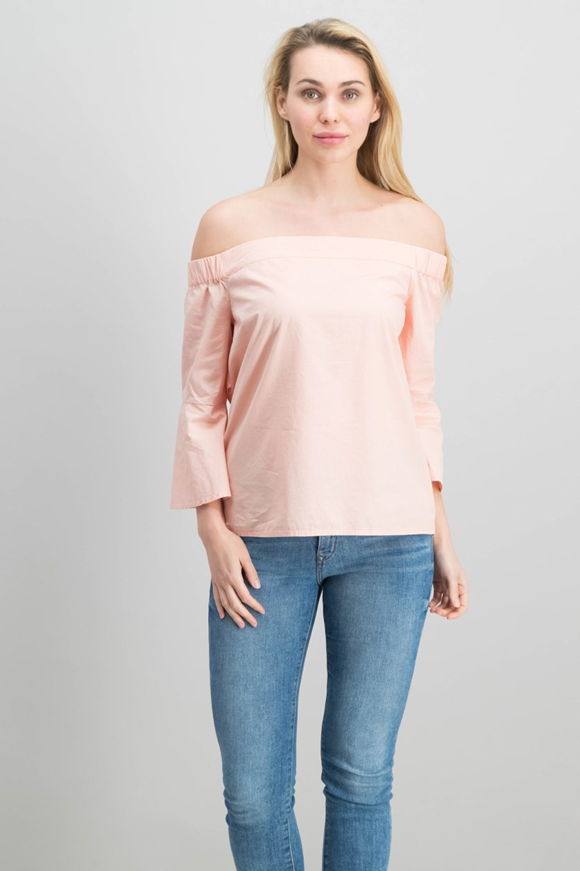 Pauline Off-The-Shoulder Top, Dusty Pink
