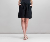 Karen Scott Lisa Pull-On Cotton Shorts, Deep Black