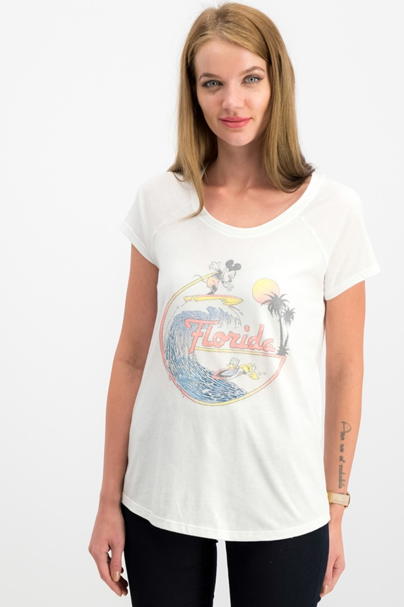 bb9d87883 Women Juniors Mickey Mouse Graphic Top, White