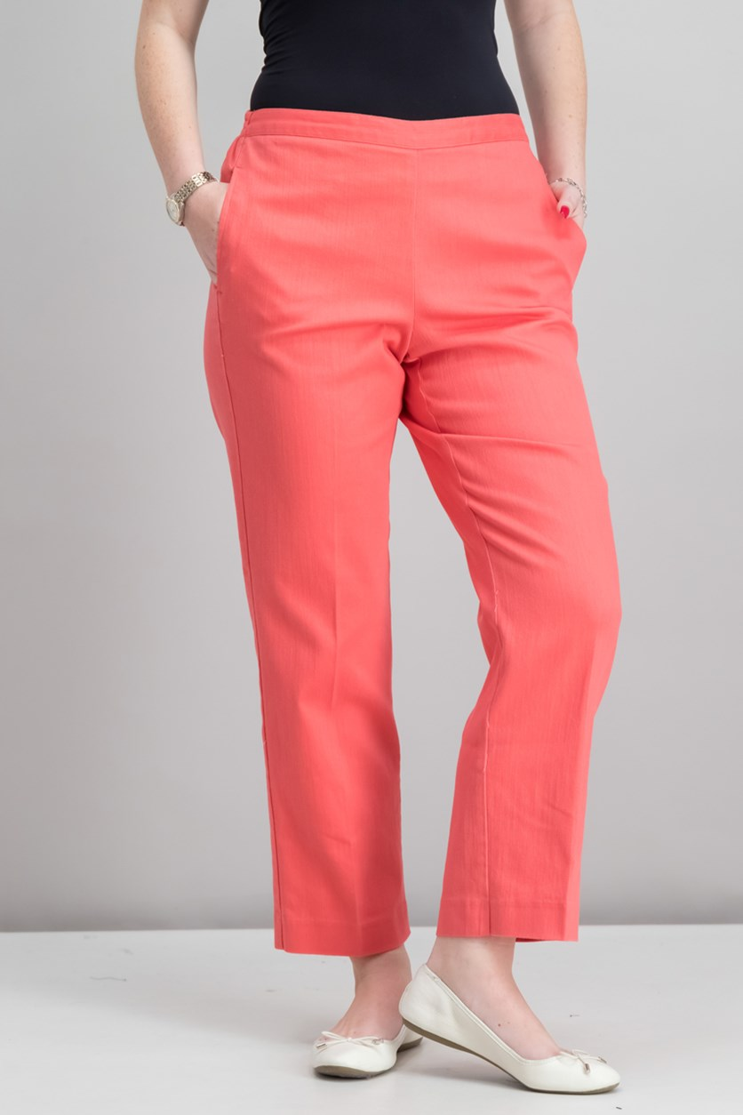 Parrot Cay Flat Front Pants, Coral