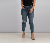 Lucky Brand Lolita Ripped Cropped Jeans, Blue Wash