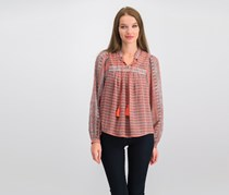 Lucky Brand Printed Peasant Top, Combo