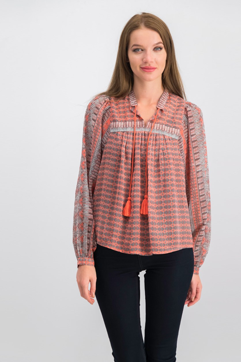 Printed Peasant Top, Combo