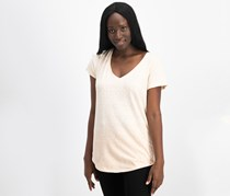 Women Printed Gradient T-Shirt, Coral  Combo