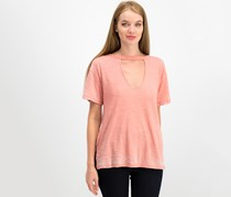 Lucky Brand Women's Choker T-Shirt, Blush