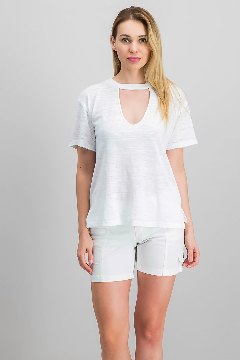 Women's Choker T-Shirt, White