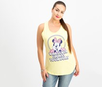 Juniors' Minnie Mouse Graphic-Print Tank Top, Yellow