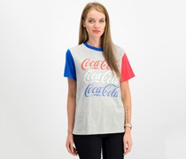 Love Tribe Juniors' Coca-Cola Graphic-Print T-Shirt, Heather Grey