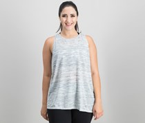 Calvin Klein Performance Crossover-Back Asymmetrical Tank Top, Pulse Heather