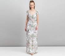 Guess Loyola Printed Maxi Dress, Inked Garden Brilliant White