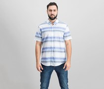 Guess Men's Sunset Stripe Shirt, Blue/White