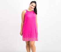 Msk Women's Beaded Shift Dress, Pink