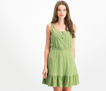 Be Bop Juniors' Ruffled-Hem Peasant Dress, Avocado