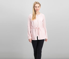 Women's Ruched-Sleeve Anorak Jacket, Blossom