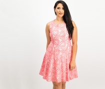 Tommy Hilfiger Two-Tone Paisley Lace A-Line Dress, Pink