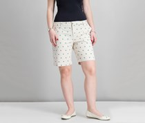 Tommy Hilfiger Women's Printed Bermuda Shorts, Parchment Combo