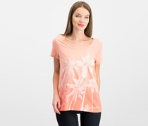 Tommy Hilfiger Cotton Palm Tree T-Shirt, Coralie Ombre