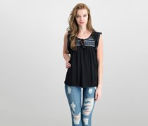 Sanctuary Wild Belle Embroidered Top, Black