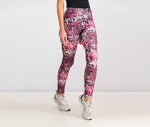 Women Juniors Printed Skinny Legging, Graffiti Pink Combo