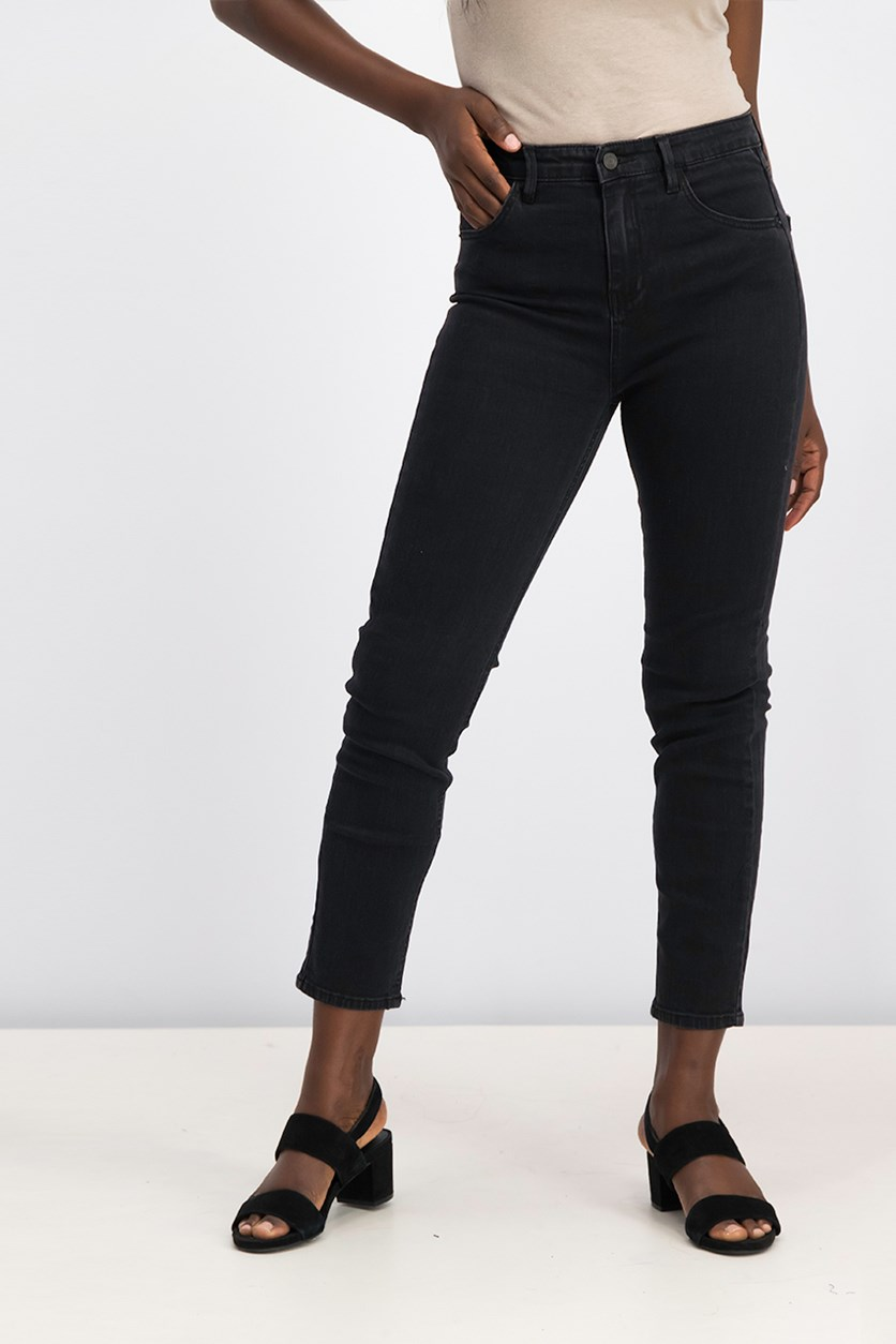 Midrise Superskinny Jeans, Black