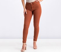 Pull & Bear Women's Washed Skinny Jeans, Rust
