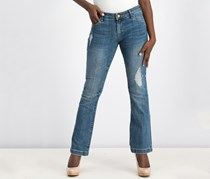 Kut from the Kloth Petite Chrissy Flare-Leg Jeans, Blue Wash