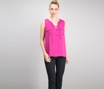 INC International Concepts Lace-Up Top, Magenta Flame