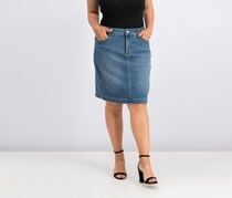Style & Co. Tummy-Control Denim Skirt, Sea Glass Wash