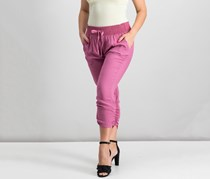 Juniors' Cropped Soft Pants, Rose