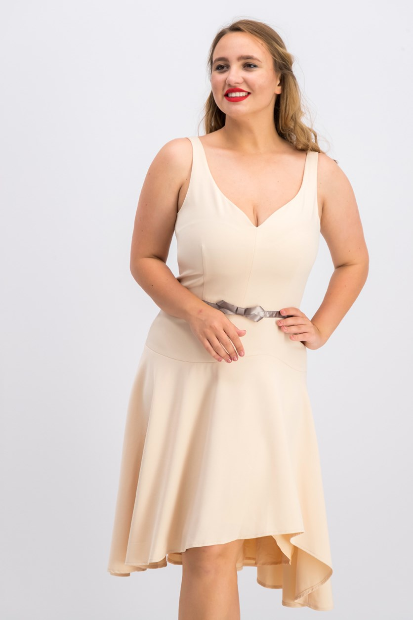 Dress Sleeveless Sweetheart Neck, Blush