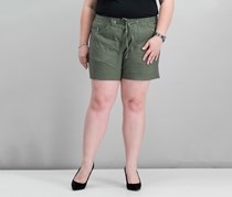 Inc International Concepts Plus Size Drawstring Shorts, Olive Drab