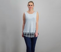 International Concepts Layered-Look Tank Top, Heather Belle