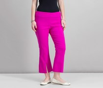 Inc International Concepts Cropped Split-Hem Pants, Magenta Flame