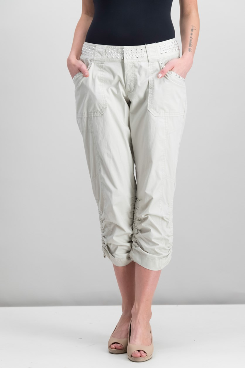 International Concepts Studded Cargo Pants, Toad Beige