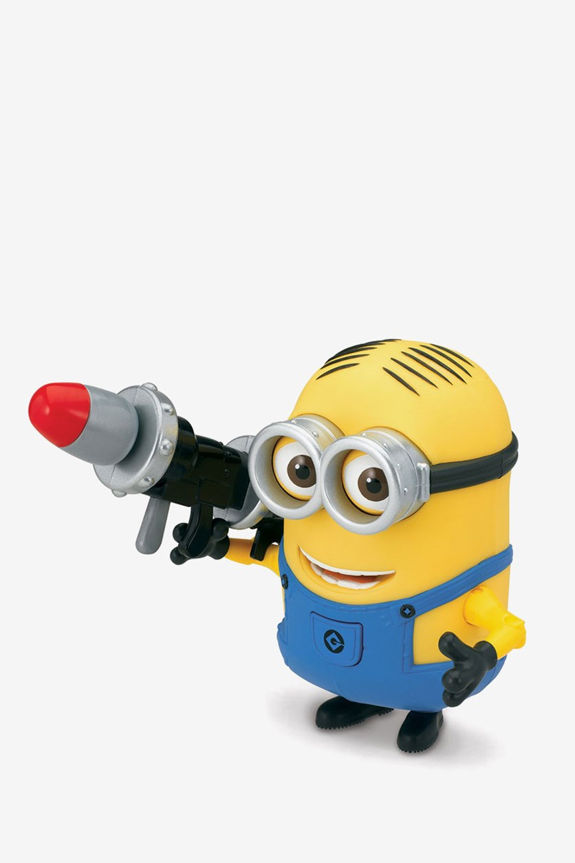 Dave Deluxe Action Figure with Rocket Launche, Yellow